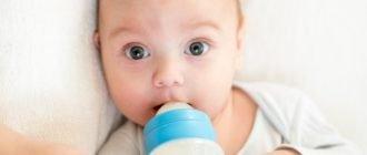 Кормление младенец а